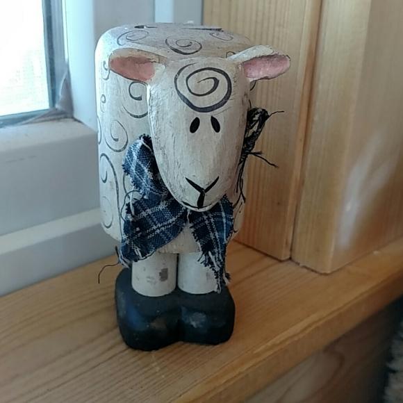 "Wood Handmade Pop-up 4"" Lamb EUC"